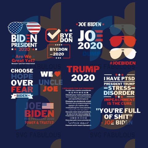 Joe Biden Anti Trump SVG Bundle, Election 2020 svg, Biden Harris SVG, Instant Download, Joe Biden President, Vote 2020 svg