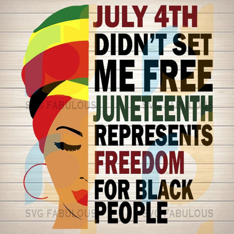 Juneteenth Day Svg Fabulous