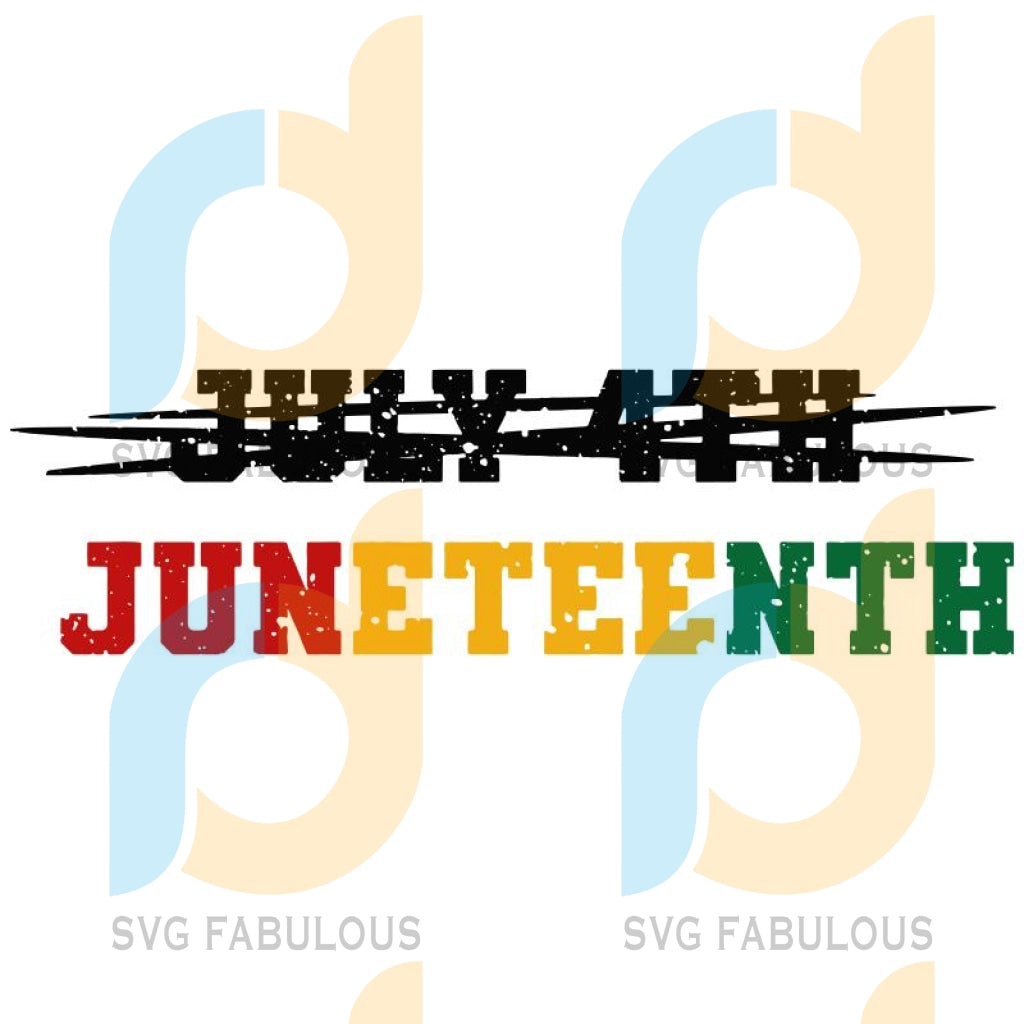 Juneteenth Freedom Emancipation Awareness Equality Independence Proclamation Justice Honor SVG, DXF, EPS, PNG Instant Download