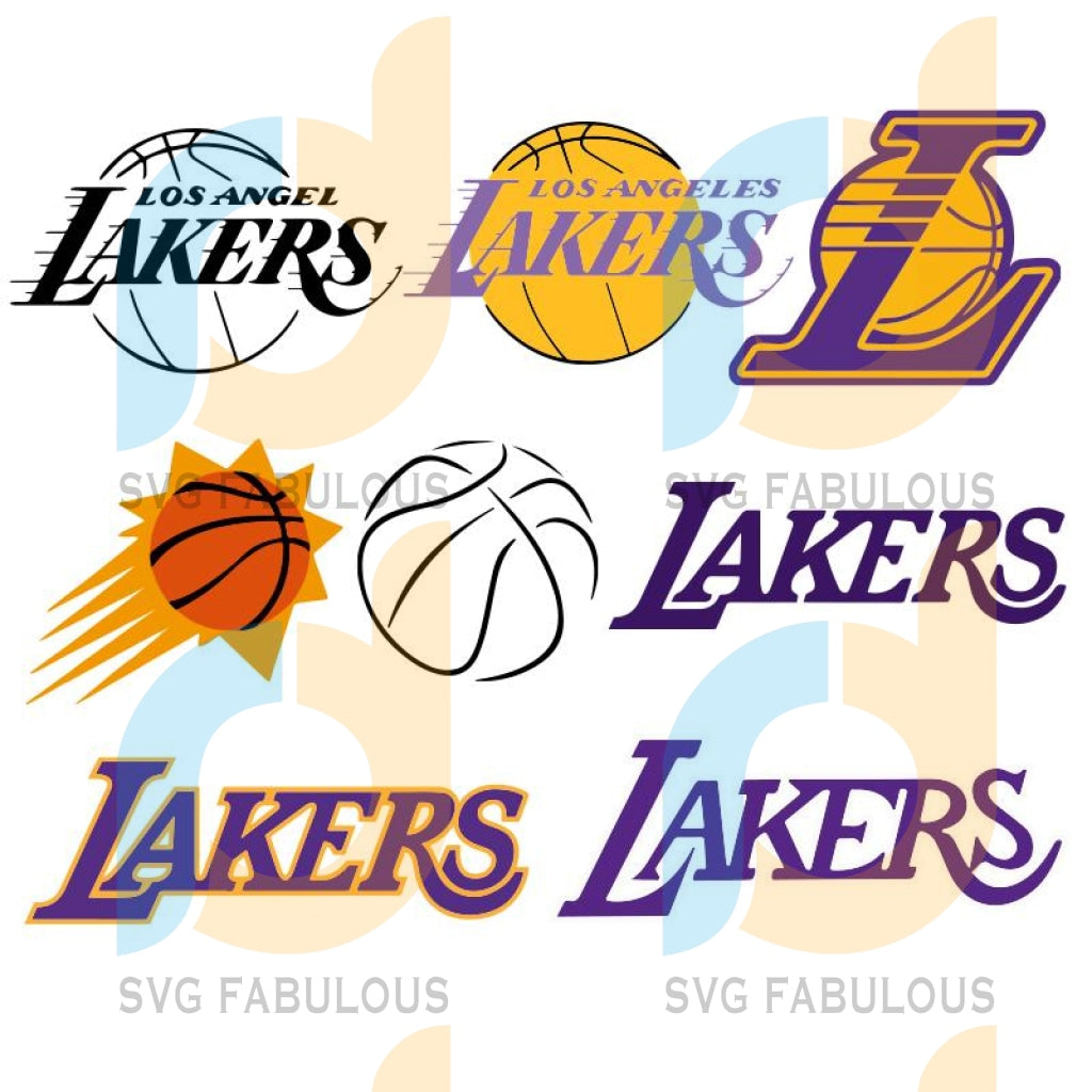 Lakers Bundle Svg Files For Silhouette Cricut Dxf Eps Png Instant Download5