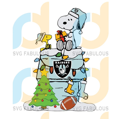 Las Vegas Raiders Snoopy Christmas,NFL Svg, Football Svg, Cricut File, Svg