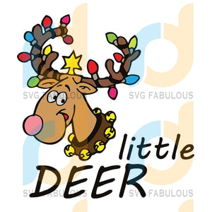Little Deer Christmas svg, merry xmas svg, christmas svg, christmas party, merry christmas svg, christmas saying svg, christmas clip art