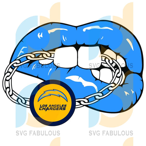 Los Angeles Chargers Football Team Svg Sport Lips Pop Fans Gifts Logo