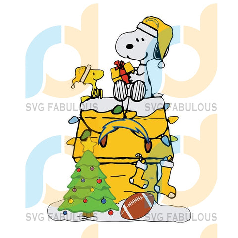 Los Angeles Chargers Snoopy Christmas NFL Svg, Football Svg, Cricut File, Svg
