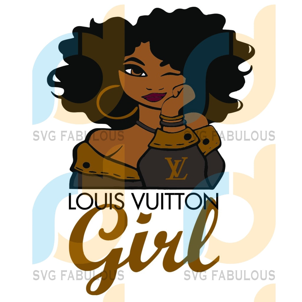 Louis Vuitton Girl Svg Trending Black Love Logo Vuittonpattern Gifts Lv