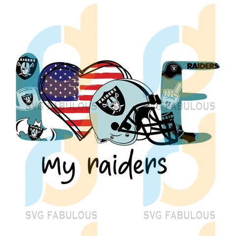 Love My Las Vegas Raiders,NFL Svg, Football Svg, Cricut File, Svg