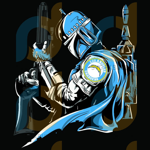 Mandalorian Los Angeles Chargers Svg Sport Svg Football Team Love La Logo Gifts Nfl Star Wars