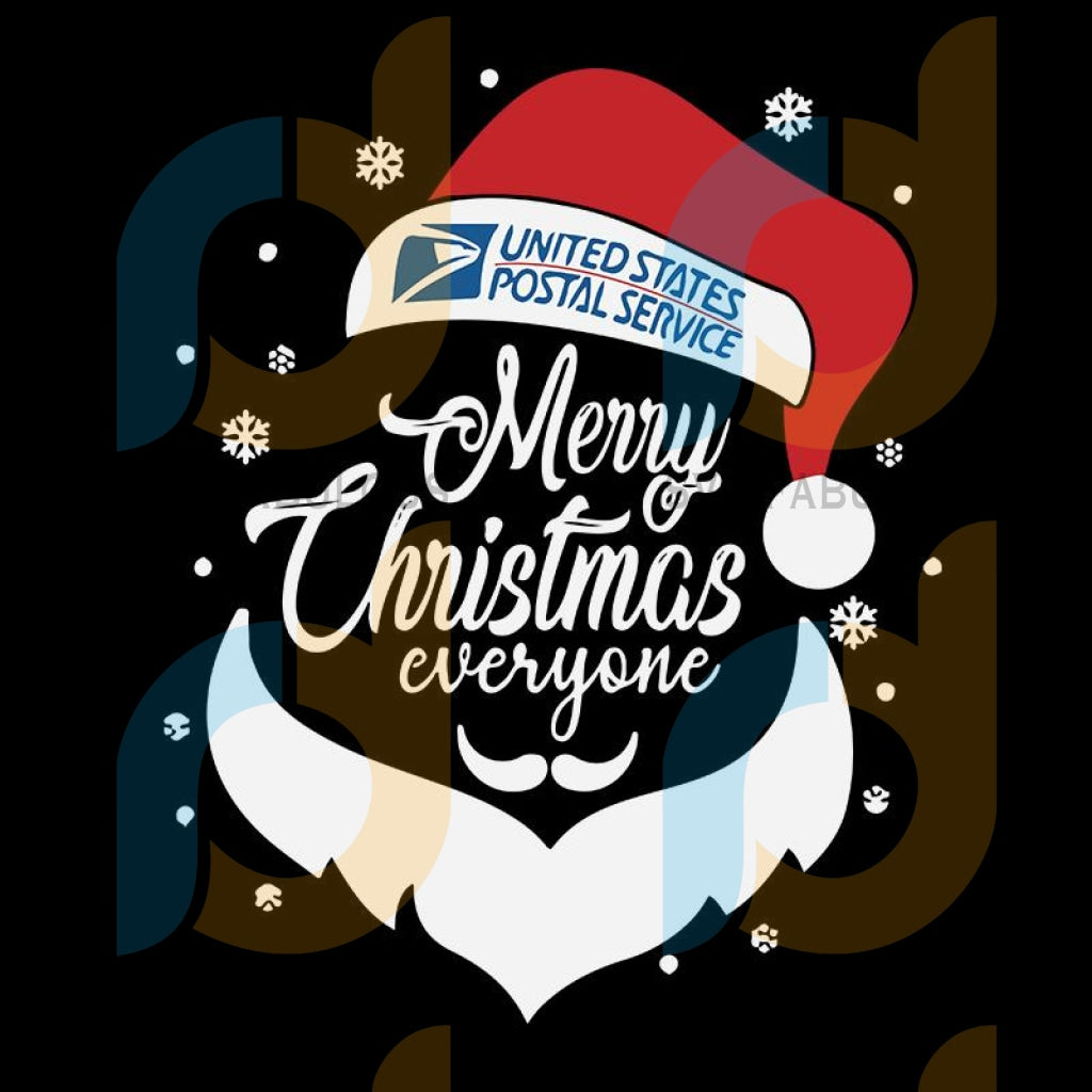 Merry christmas everyone svg, united states postal service, merry xmas svg, christmas svg, christmas party, merry christmas svg, christmas saying svg, christmas clip art