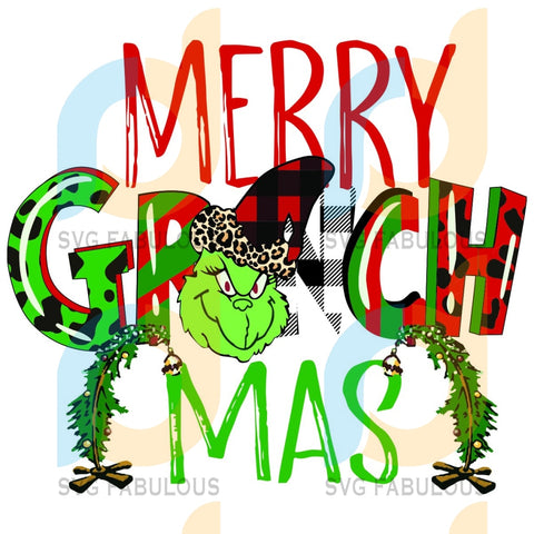 Merry Grinchmas Svg Christmas Funny Grinch Tree Day Gift Cricut Silhouette Files Designs Vinyl