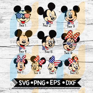 Mickey And Minnie 4Th Of July Svg Disney Svg Matching Family Fourth