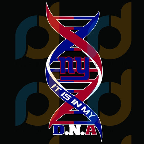 New York Giants It Is My Dna Svg Sport Svgnew Logo Nfl Team American Football