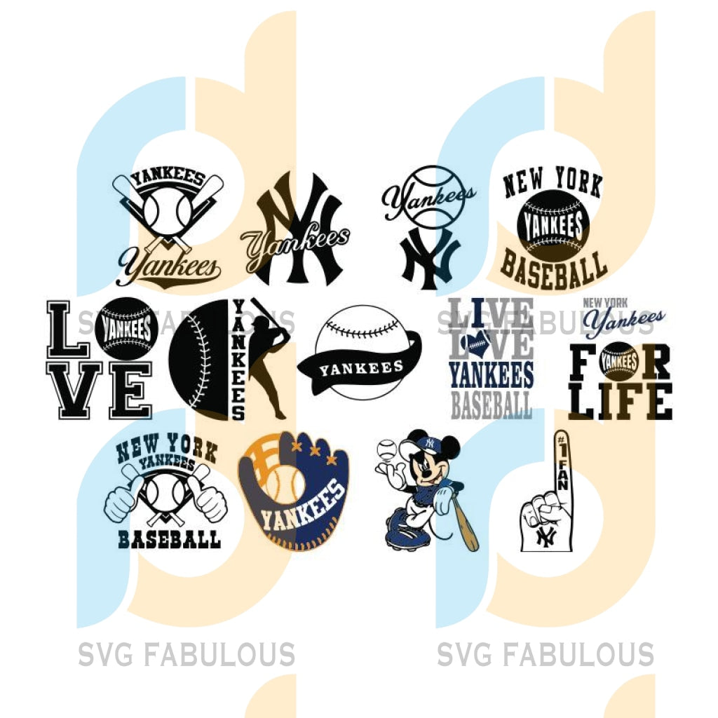 New York Yankees svg, Yankees Bundle svg, New York Yankees Digital download