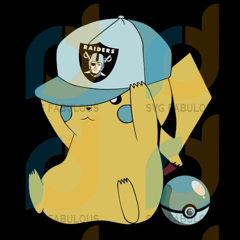 Pikachu Fan Las Vegas Raiders,NFL Svg, Football Svg, Cricut File, Svg