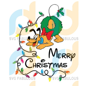 Pluto Christmas SVG Disney character, merry xmas svg, christmas svg, christmas party, merry christmas svg, christmas saying svg, christmas clip art