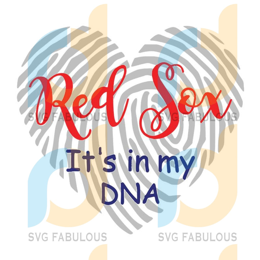 Red sox svg, red sox fingerprint svg, red sox it's in my dna svg, Boston Red Sox Png Digital Download