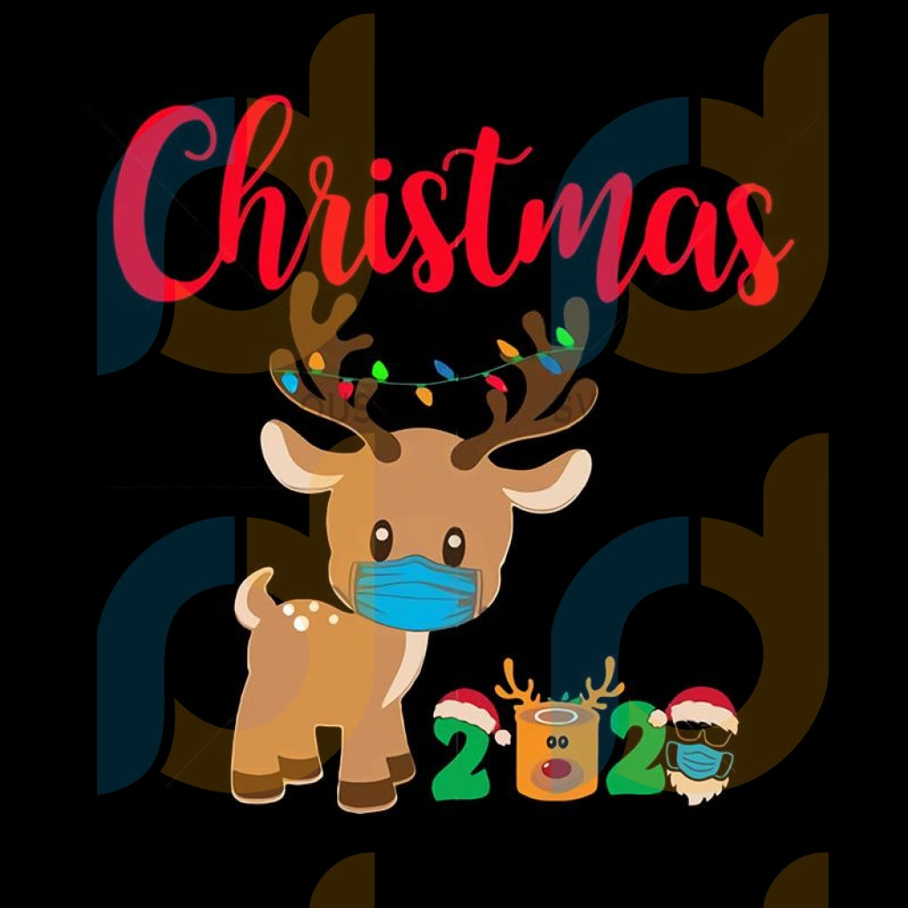 Reindeer wearing a mask svg, first christmas of reindeer svg, reindeer wearing a mask vector, first christmas of reindeer vector, reindeer babies vector, christmas reindeer vector, christmas reindeer svg