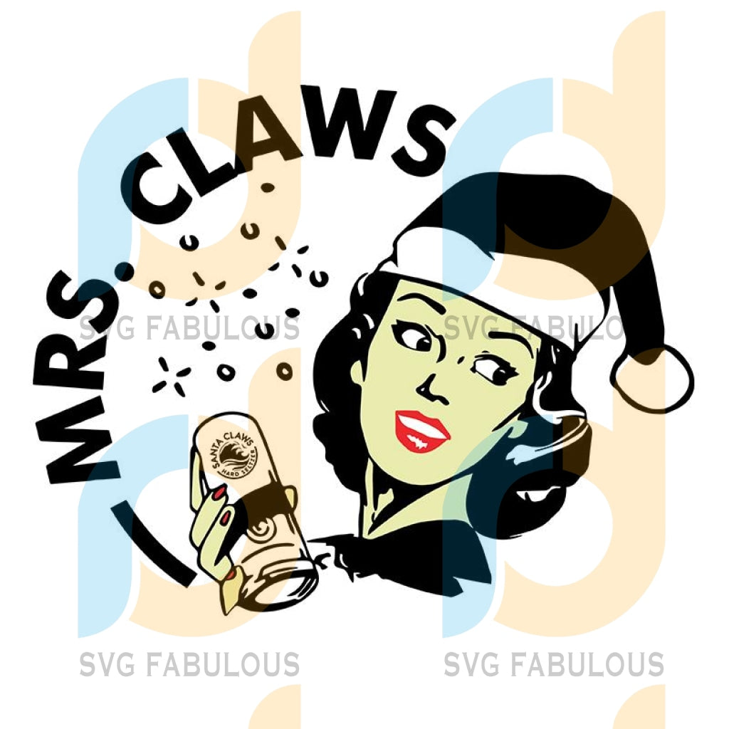 Santa Girl Beer Mrs Claws White Claw svg, merry xmas svg, christmas svg, christmas party, merry christmas svg, christmas saying svg, christmas clip art