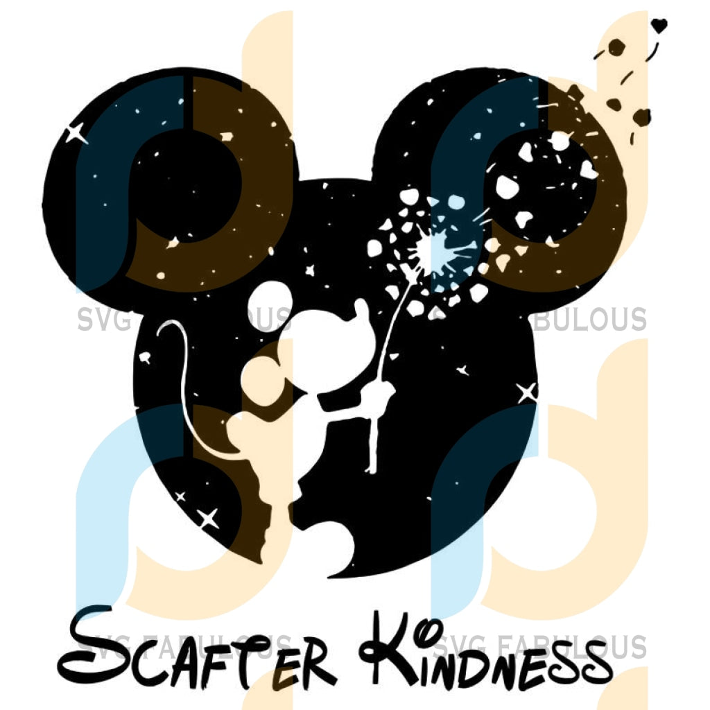 Scatter Kindness Mickey Mouse Svg Dxf Eps Png Instant Download2