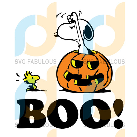Snoopy Boo Svg Halloween Snoopy Lover Pumpkin Clipart Cut File Cricut Birthday Shirts Gift Peanuts
