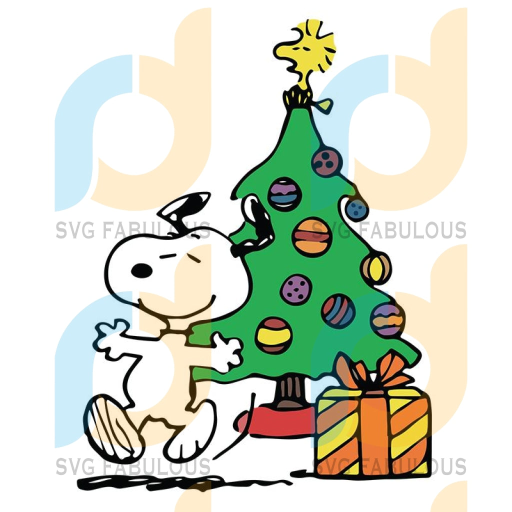 Snoopy Christmas tree svg, Woodstock Christmas svg, Snoopy and Woodstock Christmas gifts svg, Christmas svg, merry xmas svg, christmas svg, christmas party