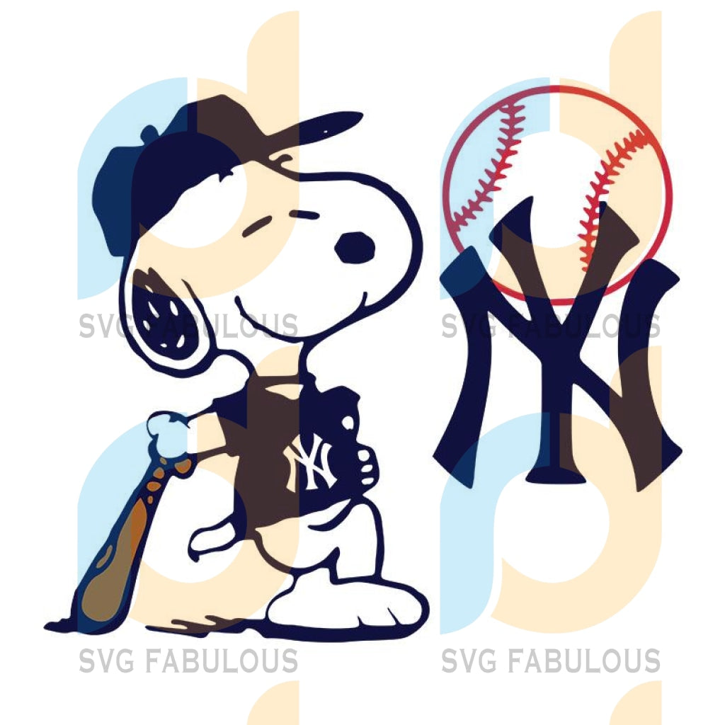 Snoopy New York Yankees, Snoopy New York Yankees Svg, New York Yankees Png