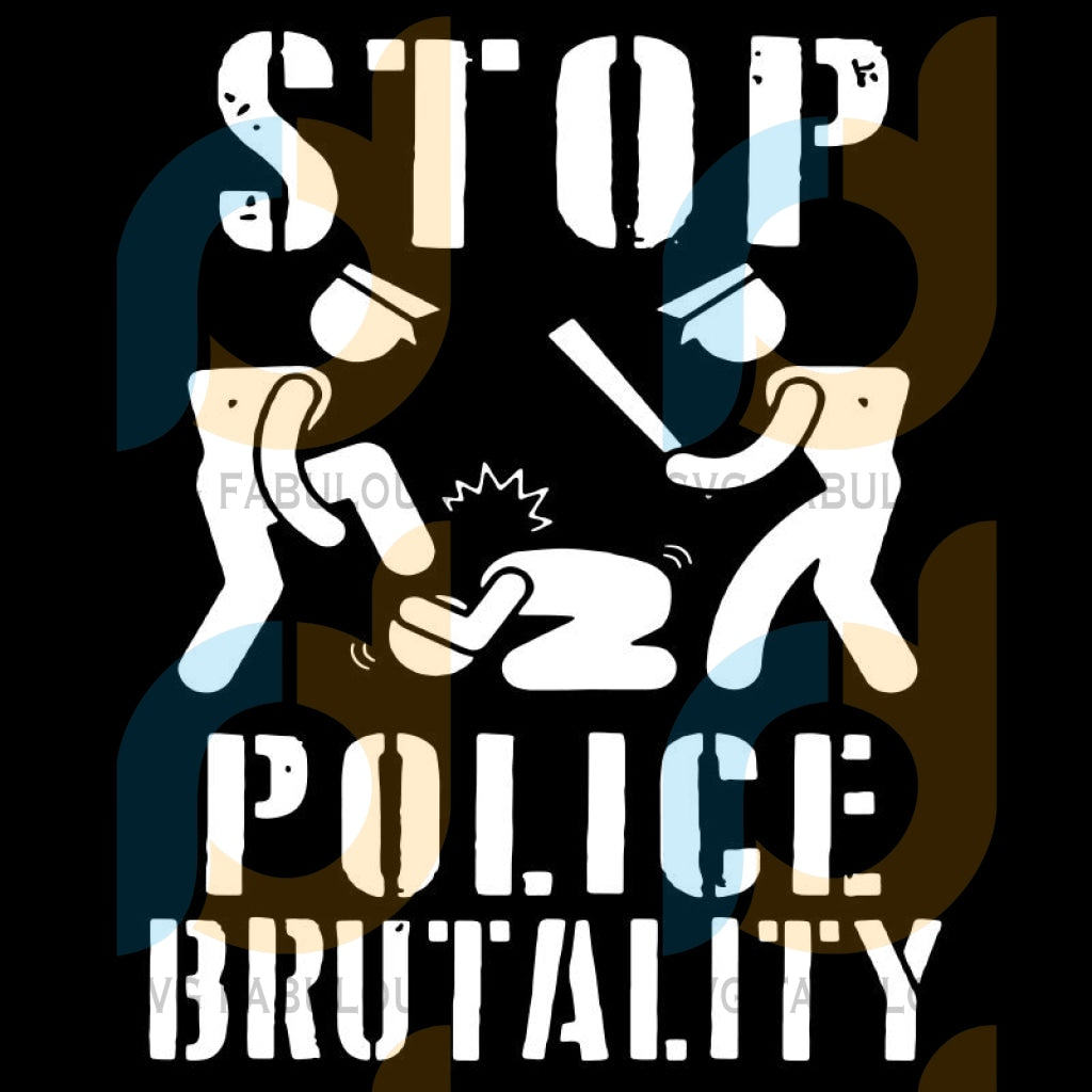Stop Police Brutality Svg Files For Silhouette Cricut Dxf Eps Png Instant Download5