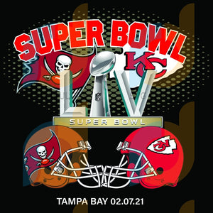 Super Bowl 2021 Tampa Bay Buccaneers Kansas City Chiefs Svg Sport Football Teams Nfl Champions Match