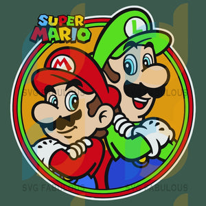 Super Mario Svg Trending Luigi Brothers Video Game Gamers Lovers Gifts Characters