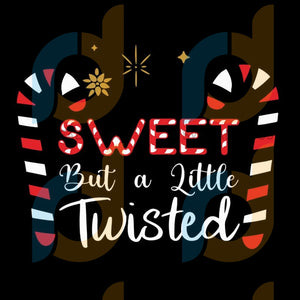 Sweet But A Little Twisted svg, merry xmas svg, christmas svg, christmas party, merry christmas svg, christmas saying svg, christmas clip art