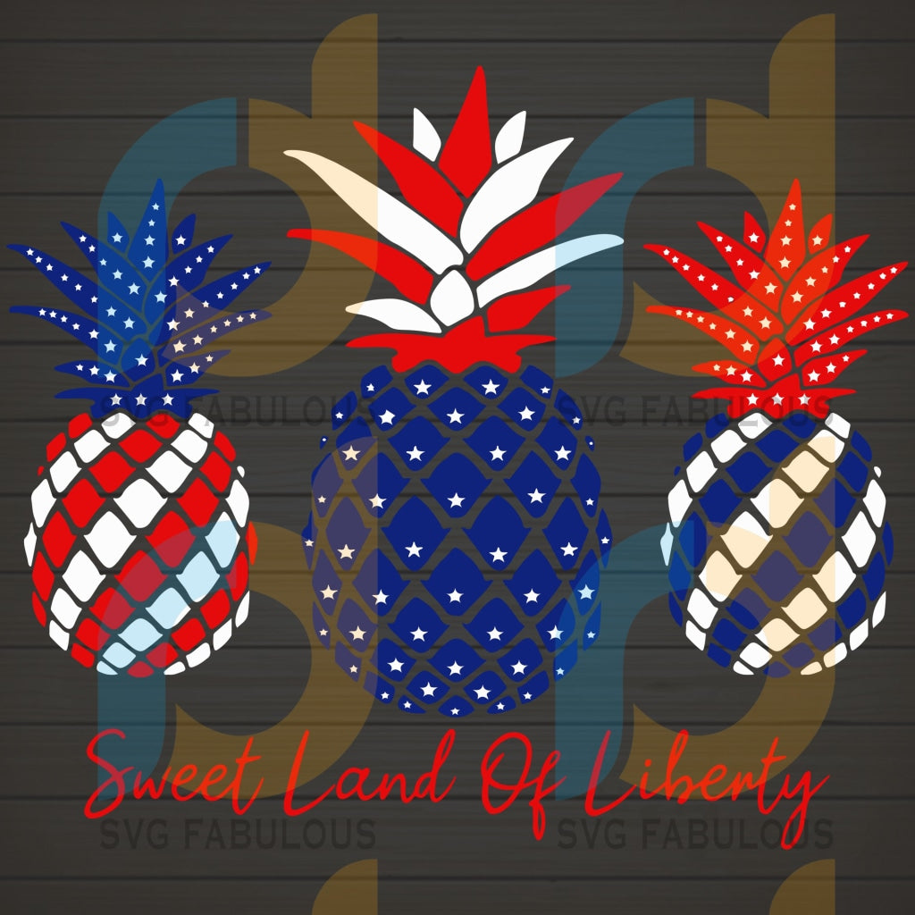 Sweet Land of Liberty Fourth of July SVG PNG DXF EPS Download Files
