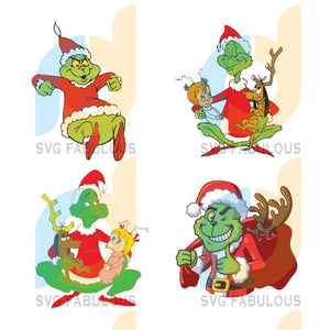 The Grinch Christmas, The Grinch Bundle Svg, The Grinch Svg, Dxf, Png Digital