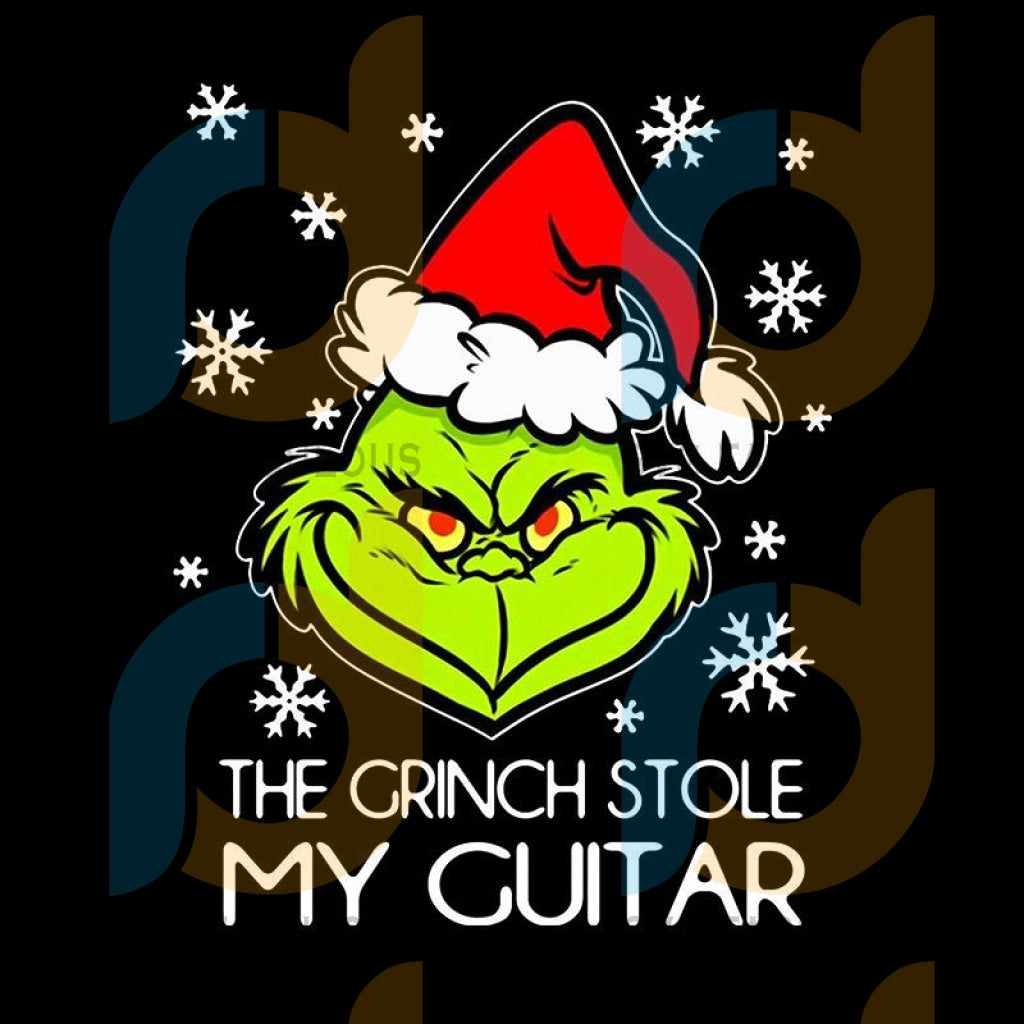 The Grinch Stole My Guitar svg, merry xmas svg, christmas svg, christmas party, merry christmas svg, christmas saying svg, christmas clip art