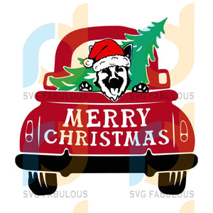Truck with dog and Christmas tree svg, Christmas truck svg, merry xmas svg, christmas svg, christmas party, merry christmas svg, christmas saying svg, christmas clip art