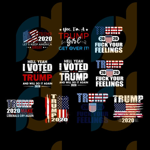 Trump SVG bundle, Trump 2020, Trump 2020 SVG & PNG Instant digital download