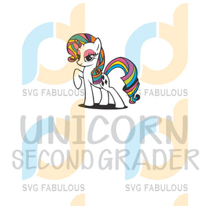 Unicorn Second Grader Svg Back To School Unicorn Students Teachers Dabbing Party Lover Horn Vector