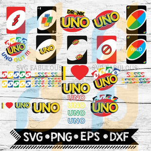 Uno Card Svg Game Bundle Drinking