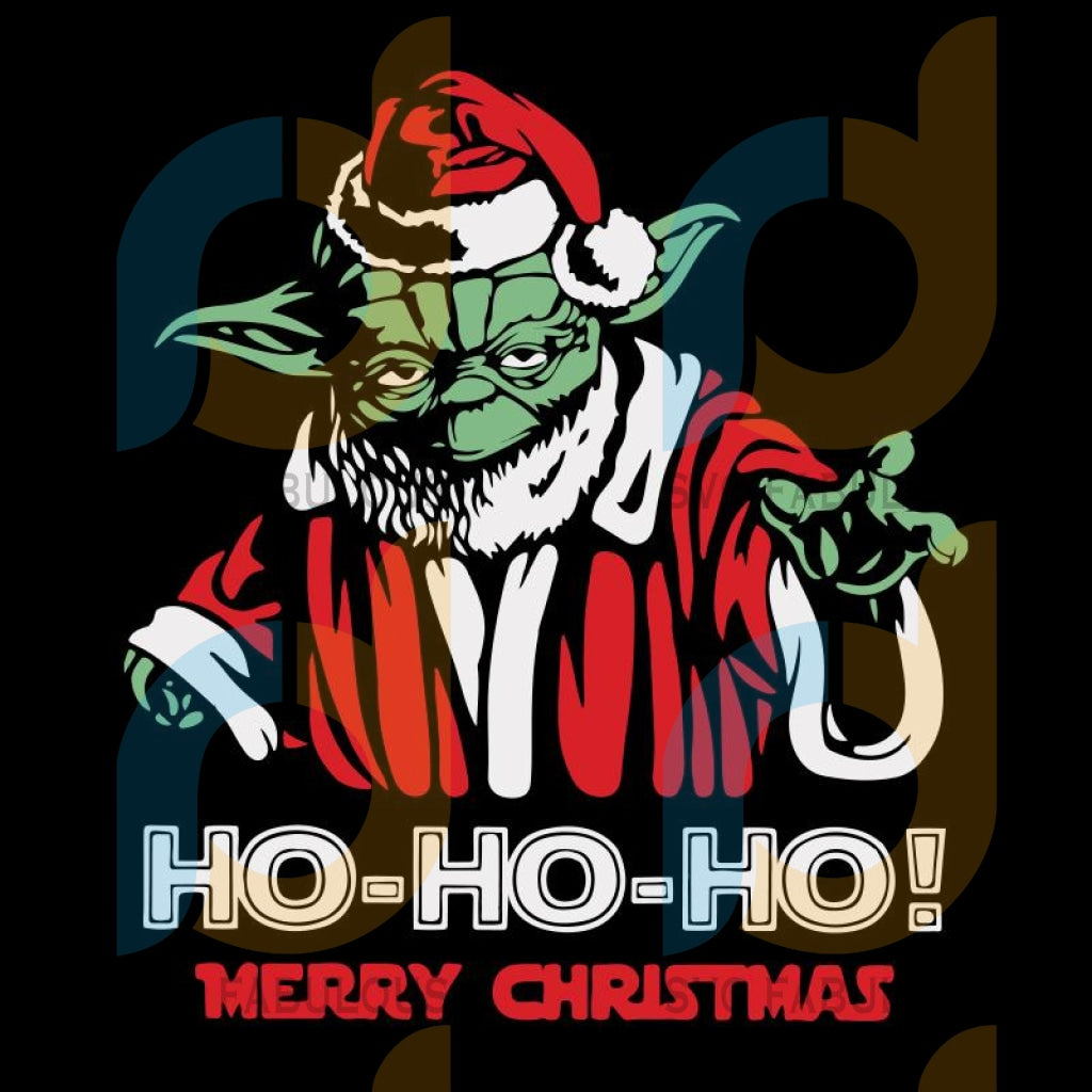 Yoda Ho Ho Ho Merry Christmas svg, Yoda Christmas svg, Star Wars Christmas, merry xmas svg, christmas svg, christmas party, merry christmas svg, christmas saying svg, christmas clip art