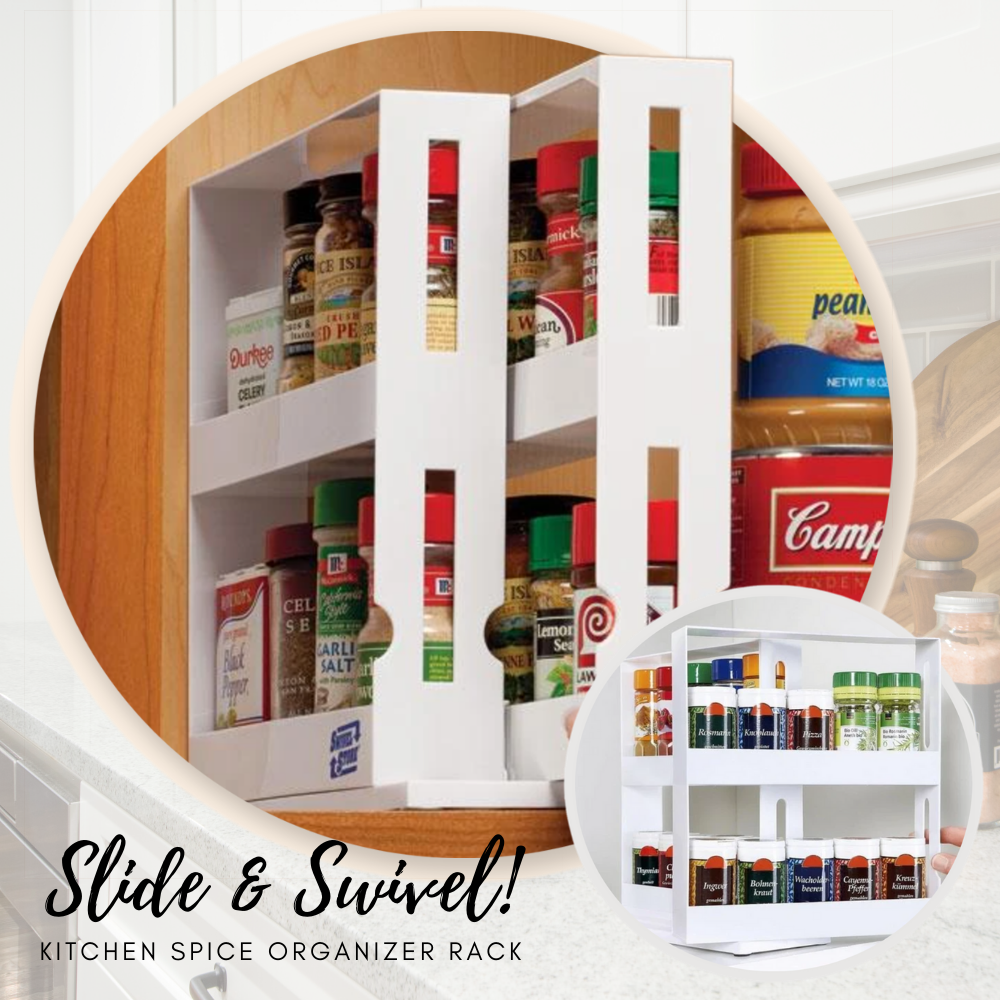 Swivel-Spice™ Kitchen Spice Organizer Rack