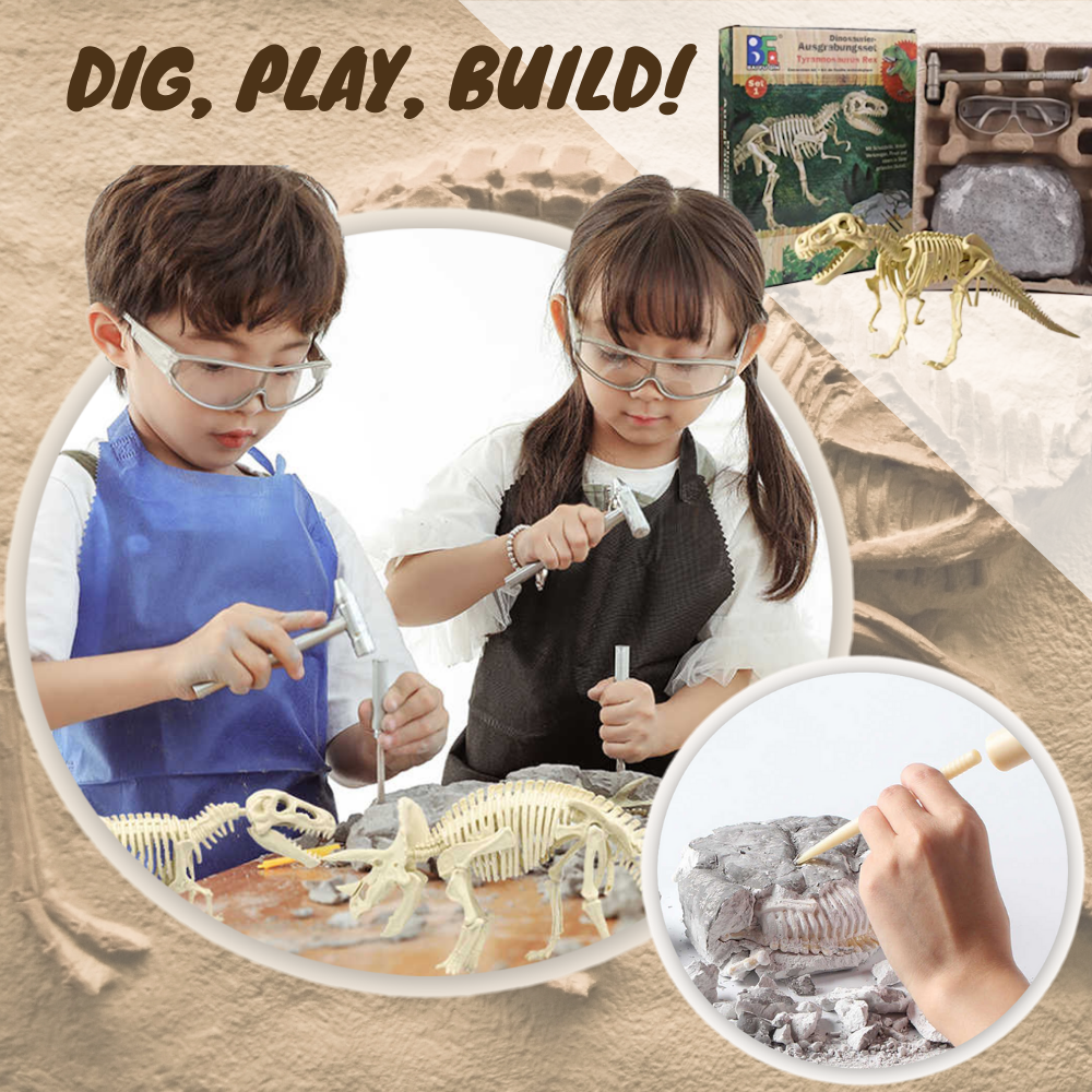 Dino-Dig™ Kid's Dinosaur Excavation Kit