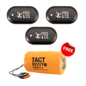 UPGRADE TO 3 QUICKHEAT RECHARGEABLE HAND WARMERS GET FREE TACT BIVVY
