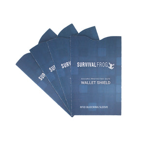 Safe Wallet Shield RFID Blockers - Multi Packs - Survival Frog