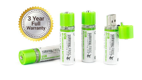 1 EASYPOWER™ USB RECHARGEABLE AA BATTERY PACK