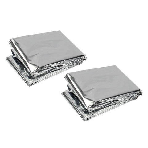 Emergency Survival Blankets by Survival Frog - 1 Pair