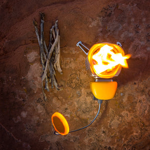 BioLite CampStove 2 with Flexlight Outside with Flames