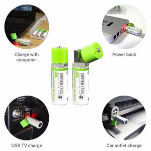 EasyPower™ USB Rechargeable AA Batteries - Survival Frog