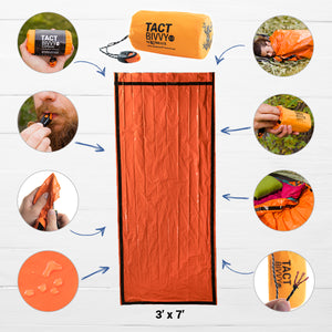 infographic of orange bivvy