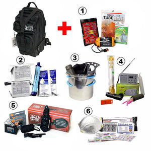 LifeShield® All-In-One Bug Out Bag w/ 6 Survival Kits by Frog & CO