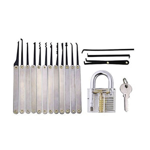 Lock Pick Set on White background