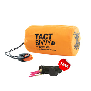 1 TACT BIVVY EMERGENCY SLEEPING BAG + 1 FREE PACK OF MATCHES