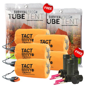 5 TACT BIVVY EMERGENCY SLEEPING BAGS + 5 FREE MATCHES + 2 FREE TUBE TENTS